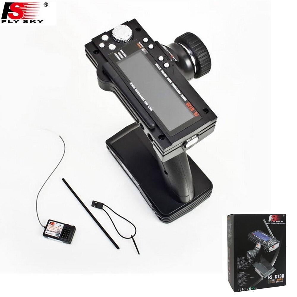 Flysky FS-GT3B FS GT3B 2.4 г 3ch gun rc Системы передатчик с приемником для RC автомобиля лодка с светодиодного Экран