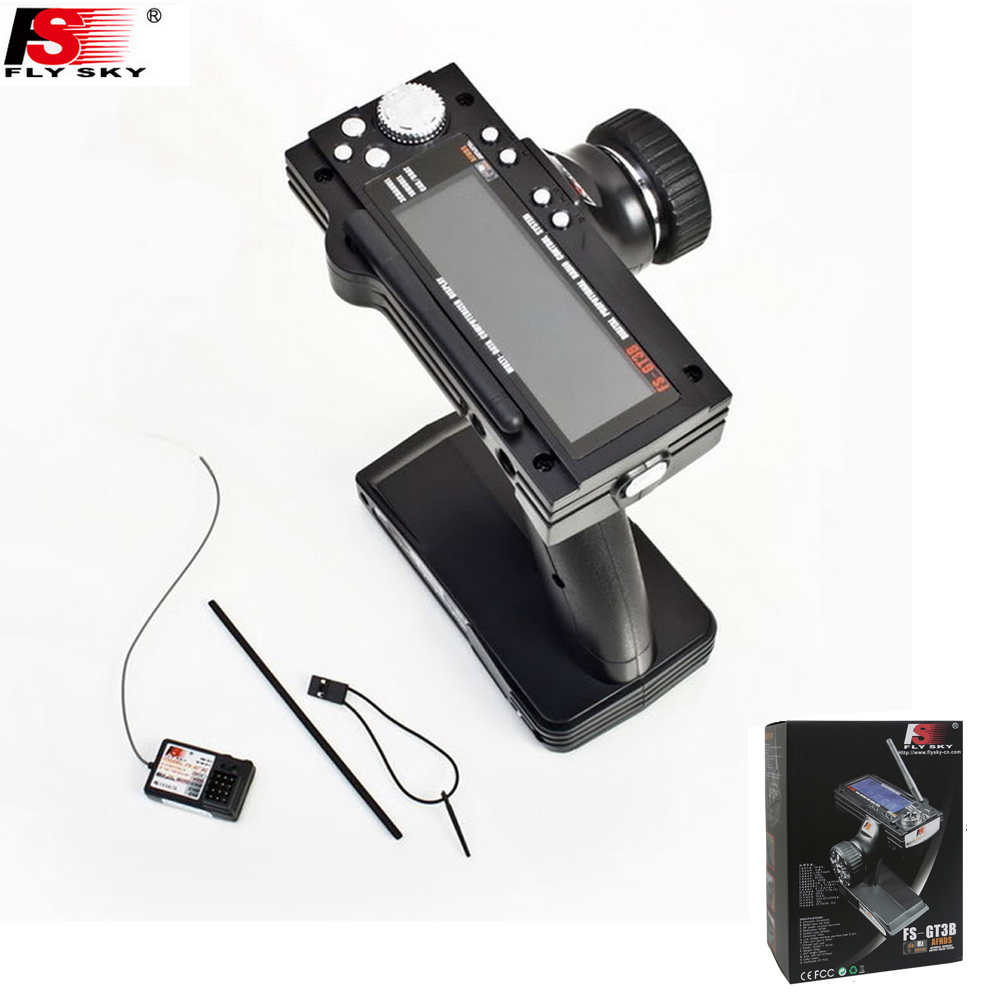Flysky FS-GT3B FS GT3B 2.4G 3CH Gun RC System Transmitter with Receiver For RC Car Boat with LED Screen fs gt3b 2 4g 3ch rc system transmitter with receiver for rc car boat with lcd screen no batteries