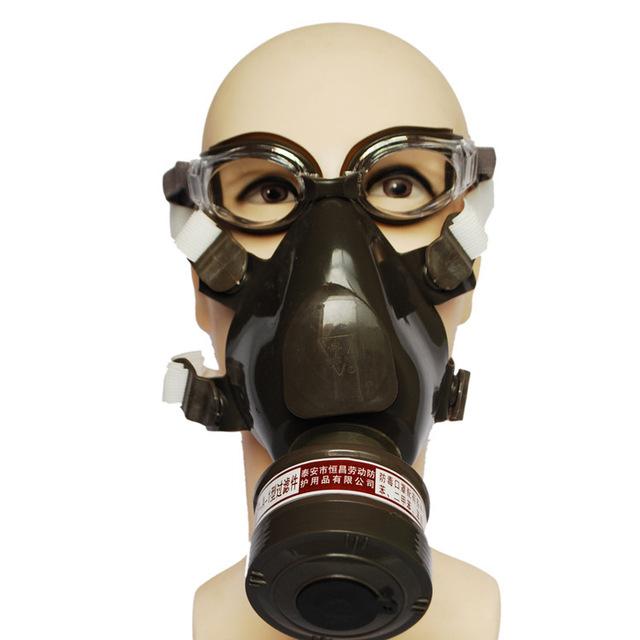 Tipo de viento respirador máscara de gas de Silicona integrado eyeshield respirador máscara de soldadura de la cara llena de pesticidas de pulverización de pintura respirador