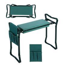 Складной садовый коленник и сиденье с бонусом горячая Распродажа многофункциональное сиденье с 3 бонусными инструментальными мешками подшипник 150 кг ТВ продукт