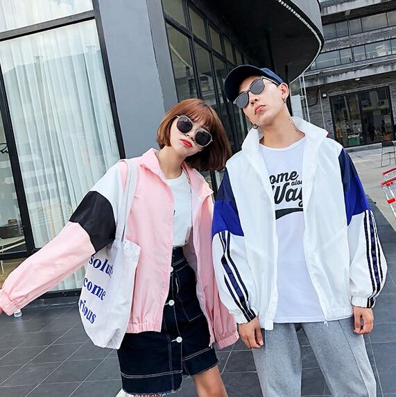 SexeMara Lovers Vintage   basic     jacket   coat Autumn 2018 street satin bomber   jacket   Women Stiching baseball   jackets   sukajan