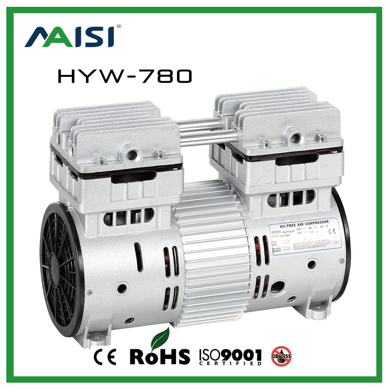 220V (AC) 120L/MIN 780W Oil Free Piston Compressor Pump HYW-780 manka care 220v ac 23l min 150 w mini piston vacuum pump silent pumps oil less oil free compressing pump
