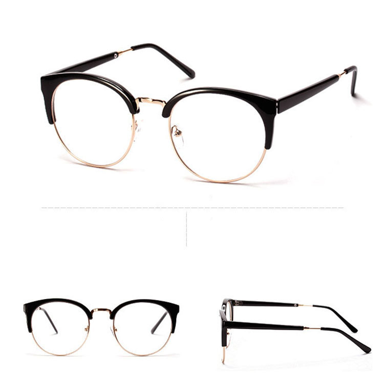 dd319d080f4 Plastics Alloy Super Cool glasses frame Patchwork Good oculos eyeglasses  2015 New for women n693