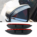 Car Styling Carbon rearview mirror rain eyebrow Rainproof  Flexible Blade Protector Accessory For TOYOTA  YARIS 2011-2013