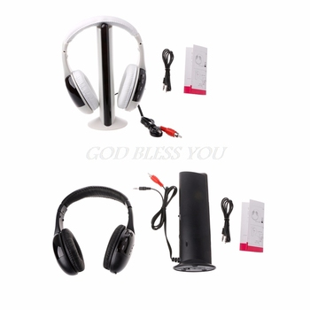 Stylish 5 in 1 Hi-Fi Wireless Headset Headphone Earphone for TV DVD MP3 PC