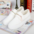 Free shipping Spring new women's casual shoes white shoes fastener