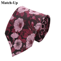 2016 new 9CM Wide high grade silk flower pattern silk tie 6