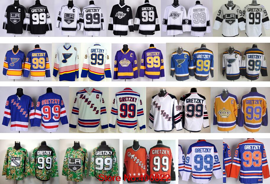 best website 32ec1 d2459 99 Wayne Gretzky Los Angeles Kings Jersey New York Rangers ...