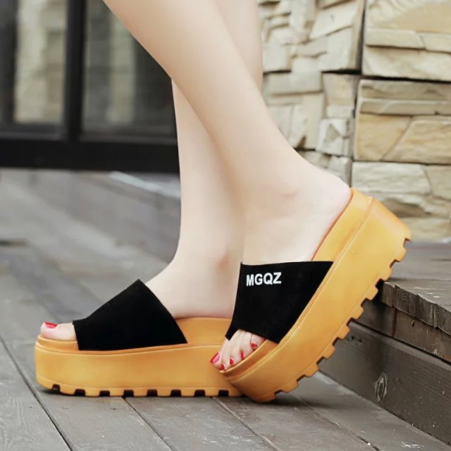 2cbce1d7d57 Lady S Sandal Women Beach Home Flip Flops Slippers Flat Sandals Shoes Style  Summer Platform Elastic Strap Wedges High 349