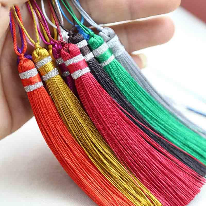 12pcs/lot chineseKnot tassels silk fringe bangs flower tassel trim decorative tassels for curtains home decoration accessories
