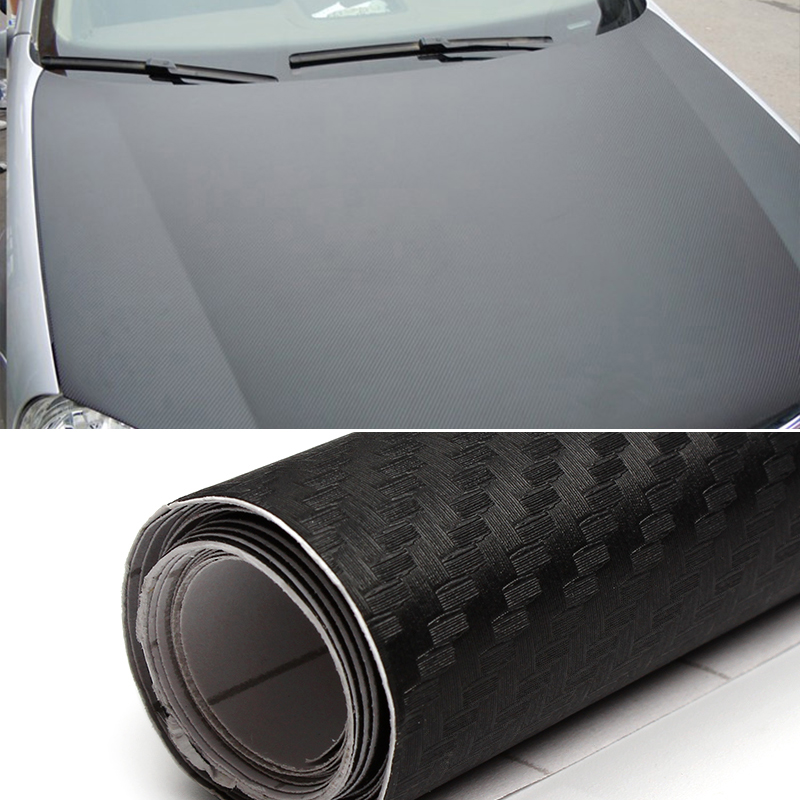 D Carbon Fiber Sticker Black Vinyl Film Sheet Wrap Roll DIY - Car decals designcheap carbon vinyl sticker buy quality carbon time directly from