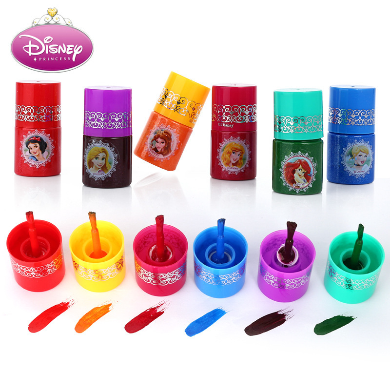 Disney Sweet Princess Water Soluble Finger Color Children's Toy Makeup Show Cosmetic Ball Dance Toy Nail Polish image