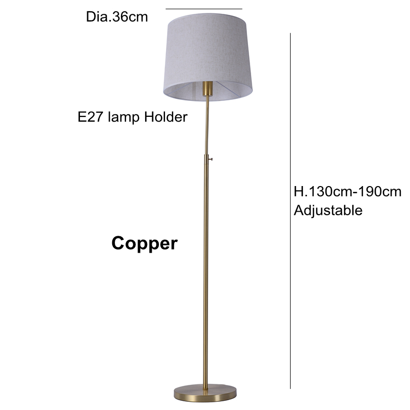 Classic copper floor lamp toolery modern toolery desk light bedroom classic copper floor lamp toolery modern toolery desk light bedroom adjustable direction standing lamp simple home lighting in floor lamps from lights aloadofball Choice Image