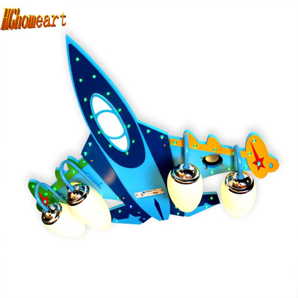 HGhomeart акрил самолет E14 светодиодные светильники потолочные дети 110 В 220 В USB аудио усилитель колонки деревянные светодиодный потолочный свет