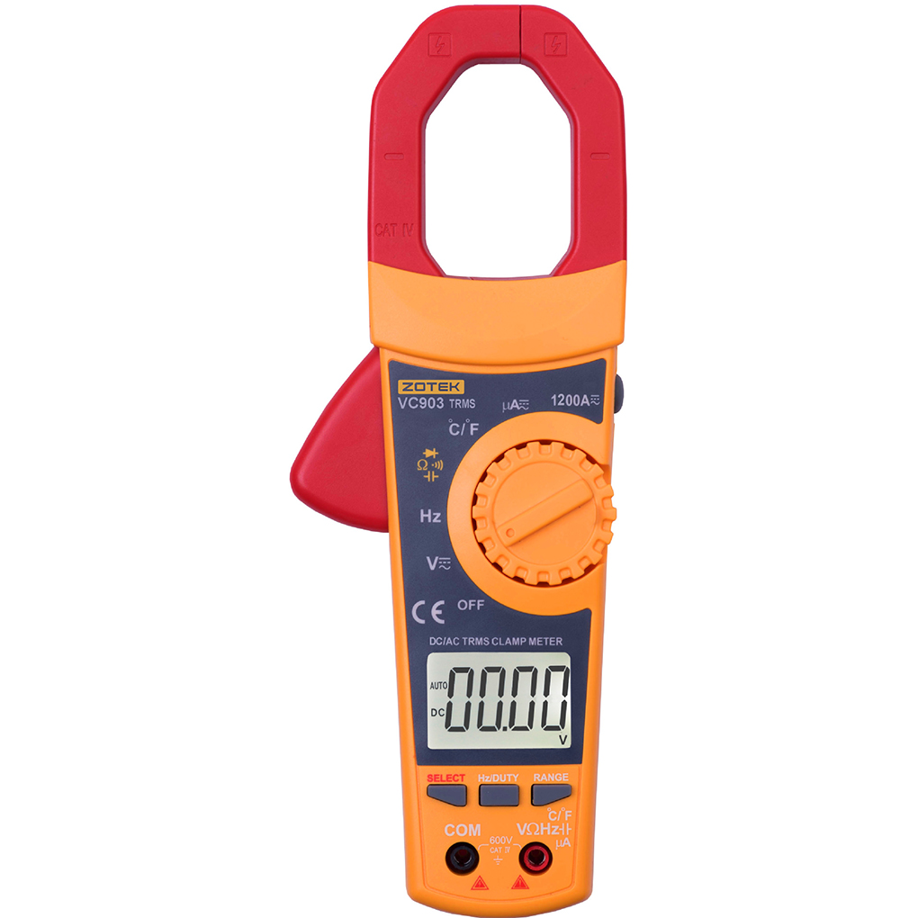 VC903 6000 COUNTS Digital Clamp Meter Multimeter AC DC 1200A Current Pincers Voltage Capacitor Resistance Tester richmetes 17b 6000 counts digital dc multimeter ac voltage current meter resistance diode capaticance tester multimetro
