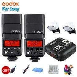 2X Godox TT350S lampa błyskowa światło TTL HSS 1/8000 s 2.4G lampa błyskowa Speedlite do Sony Sony bez lustra aparatu a7RII a7R a58 a99 ILCE6000L