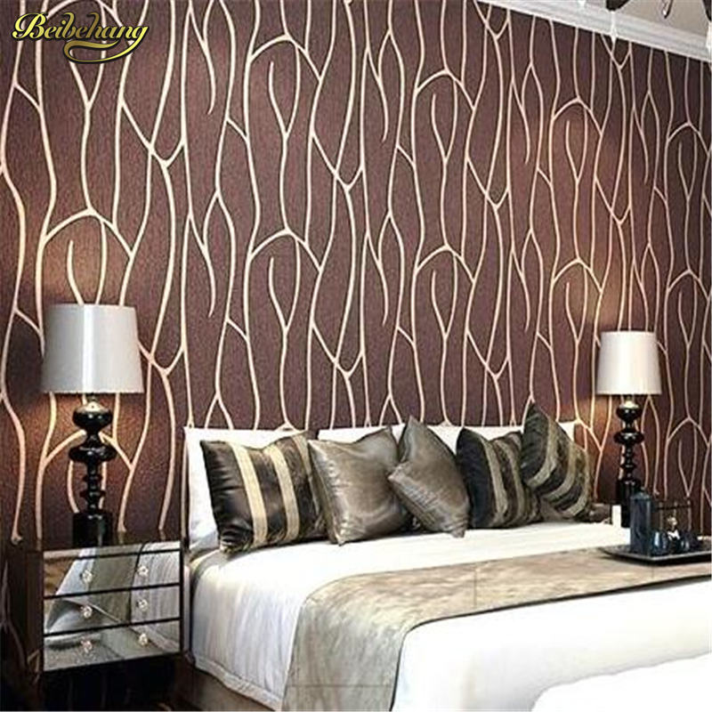 beibehang Continental buttercup leaf suede relief papel de parede 3D wall paper Living room TV background ROLL modern minimalist зимняя шина continental contivikingcontact 6 225 55 r17 101t