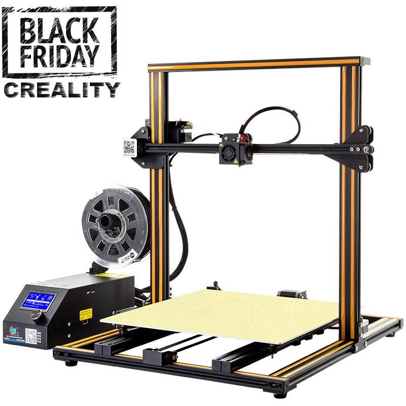 CREALITY 3D CR-10 imprimante 3D I3 Mega plein cadre en métal coloré de qualité industrielle haute précision abordable impression 3d