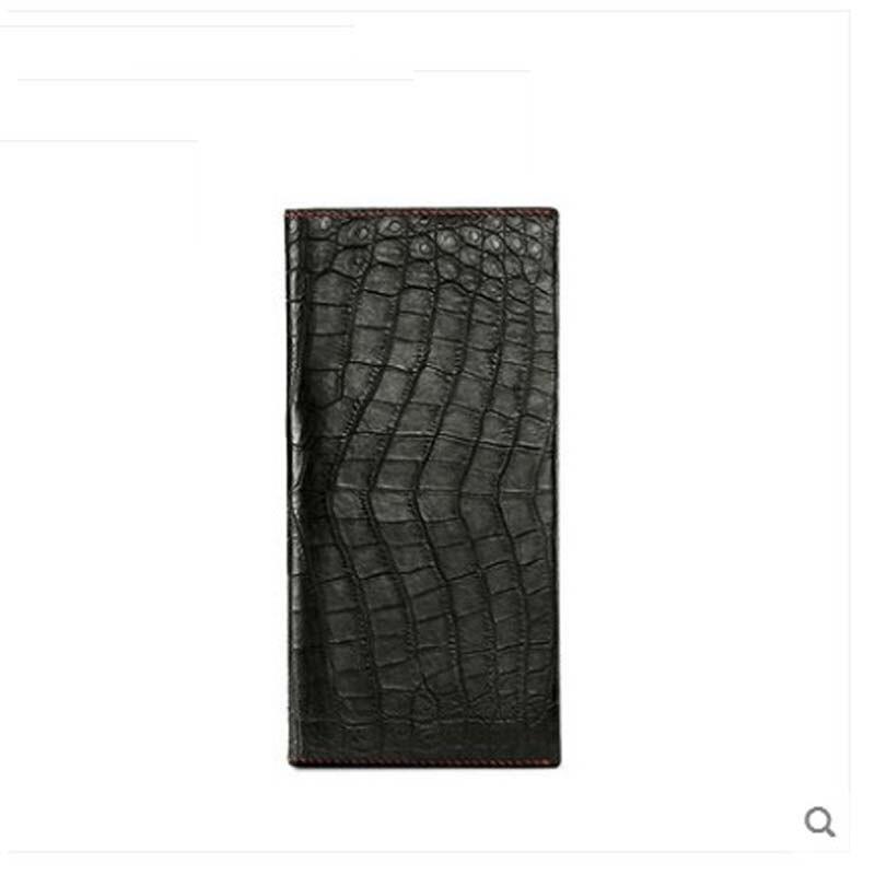 Gete 2019 новый все ручной сшитый Нил кошелек из крокодиловой кожи мужской длинный стиль живота кошелек мульти карты ручной бумажник мужчин