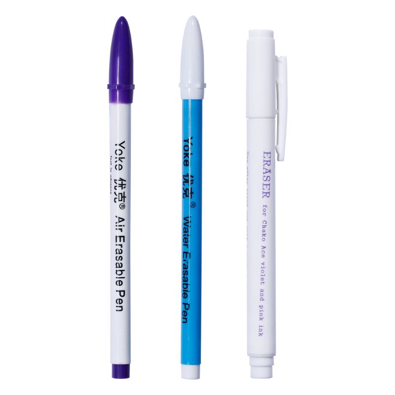 3pcs/set Air Water Soluble Erasable Marker Pen Textile Ink Auto-Vanishing Pens For Patchwork Cross Stitch Fabric DIY