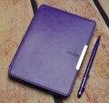 Caso de la cubierta elegante de cuero para amazon kindle paperwhite 1/2/3 protectora folio elegante de la caja + screen protector + stylus como regalo