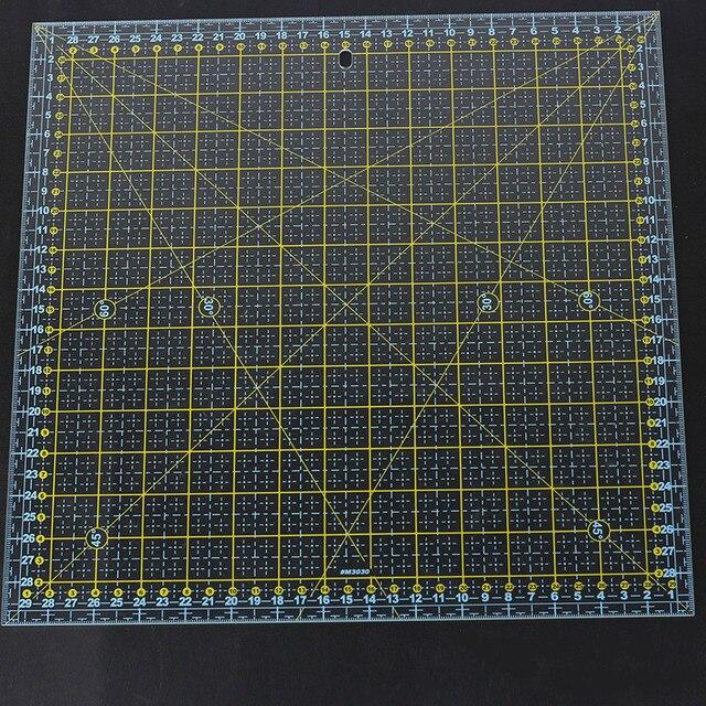 مربع 30*30 سم خليط حاكم سميكة الاكريليك شفافة اللحف الخياطة الحكام قطع حاكم للخياط الاستنسل قياس أدوات