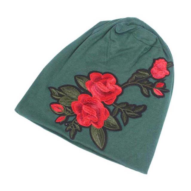 73983555224 Women Embroidery Cancer Chemo Hat Beanie Scarf Turban Head Wrap Cap Women s  winter hats Chapeus para