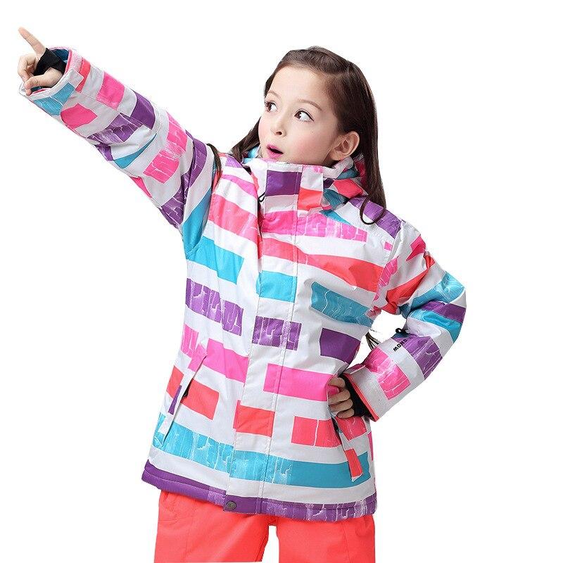 GSOU SNOW Childrens Ski Suit Outdoor Windproof Waterproof Breathable Warm Wear-resistant Ski Jackat Cotton Clothes For UnisexGSOU SNOW Childrens Ski Suit Outdoor Windproof Waterproof Breathable Warm Wear-resistant Ski Jackat Cotton Clothes For Unisex