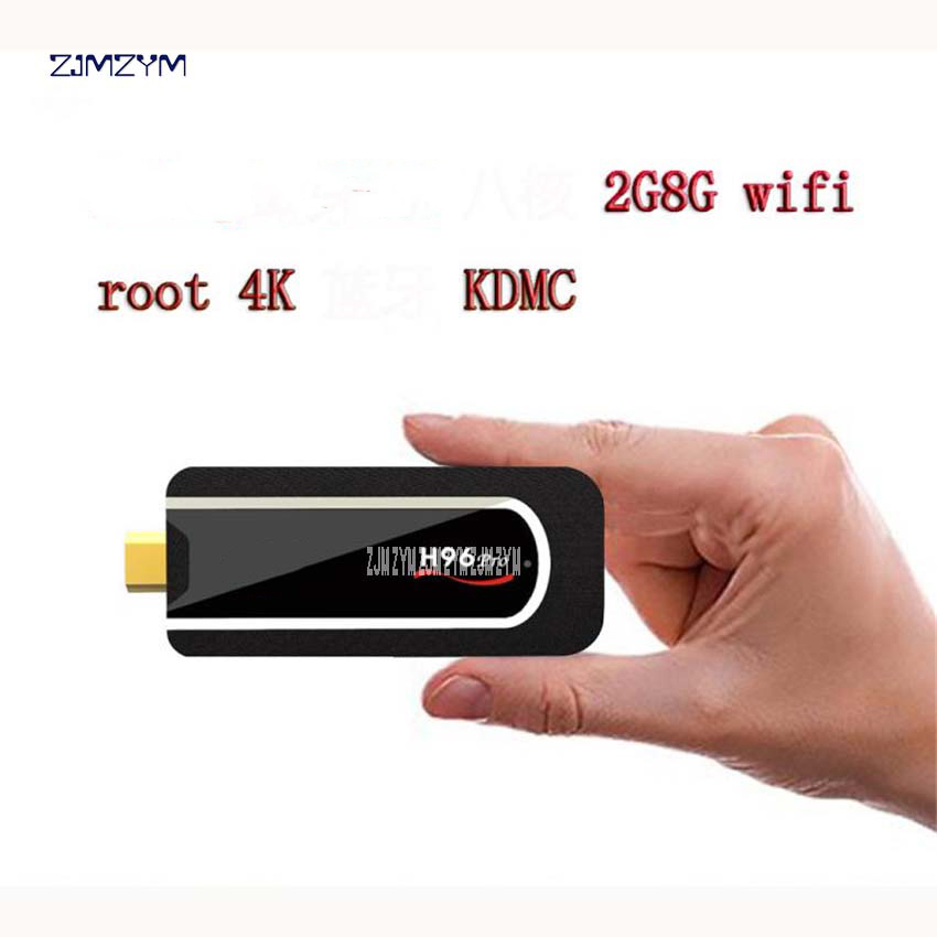 2017 H96 Pro 4 K TV Stick Android 7.1 Smart TV dongle S912 Octa Core 2G 8G H.265 DLNA 4 K petits adaptateurs Bluetooth pc