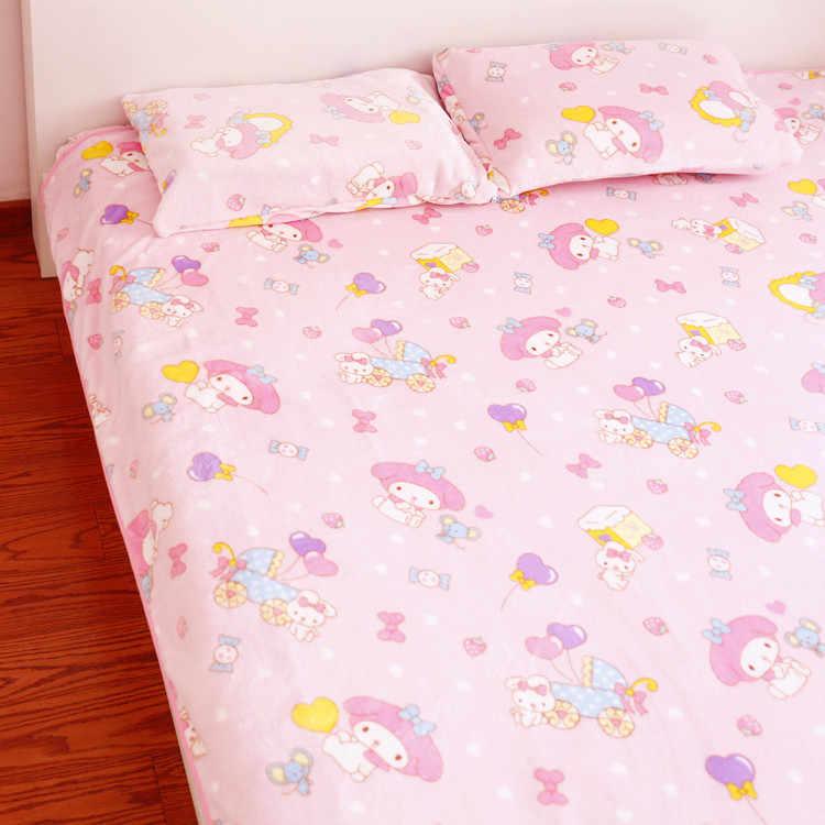 Candice guo! Super bonito brinquedo de pelúcia dos desenhos animados melodia rosa doce coração balão de aniversário cobertor macio fronha presente de Natal 1 pc