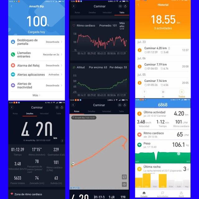 [Spanish Version] Amazfit Bip GPS Smart Watch Men Women Smartwatch Heart Rate 45 Days Standby IP68 3