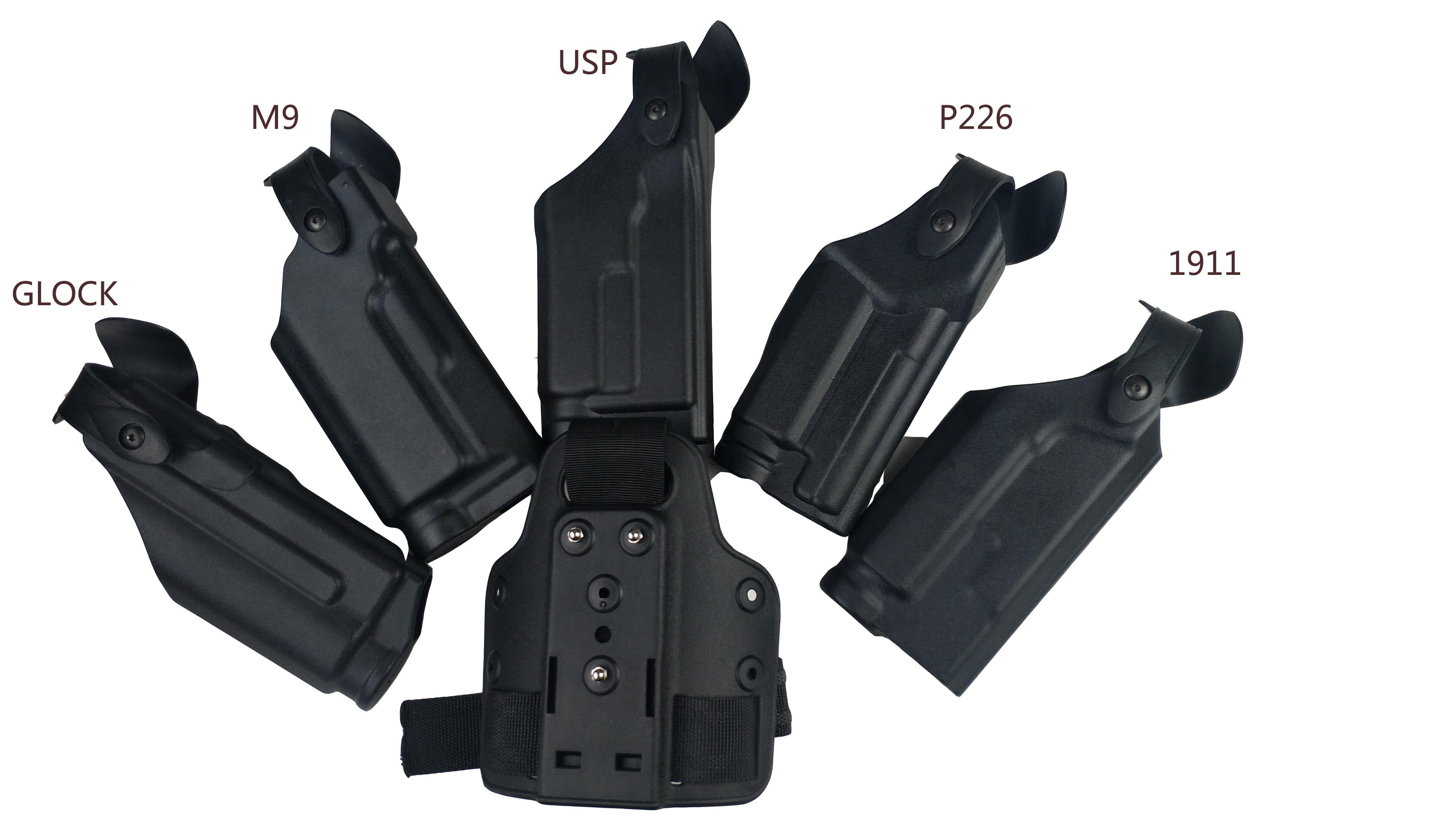 Military Safariland P226/M9/1911/glock/usp Light Bearing Belt Waist Gun Holster Hunting Gun Accessories Leg Holster SIG Thigh Ho