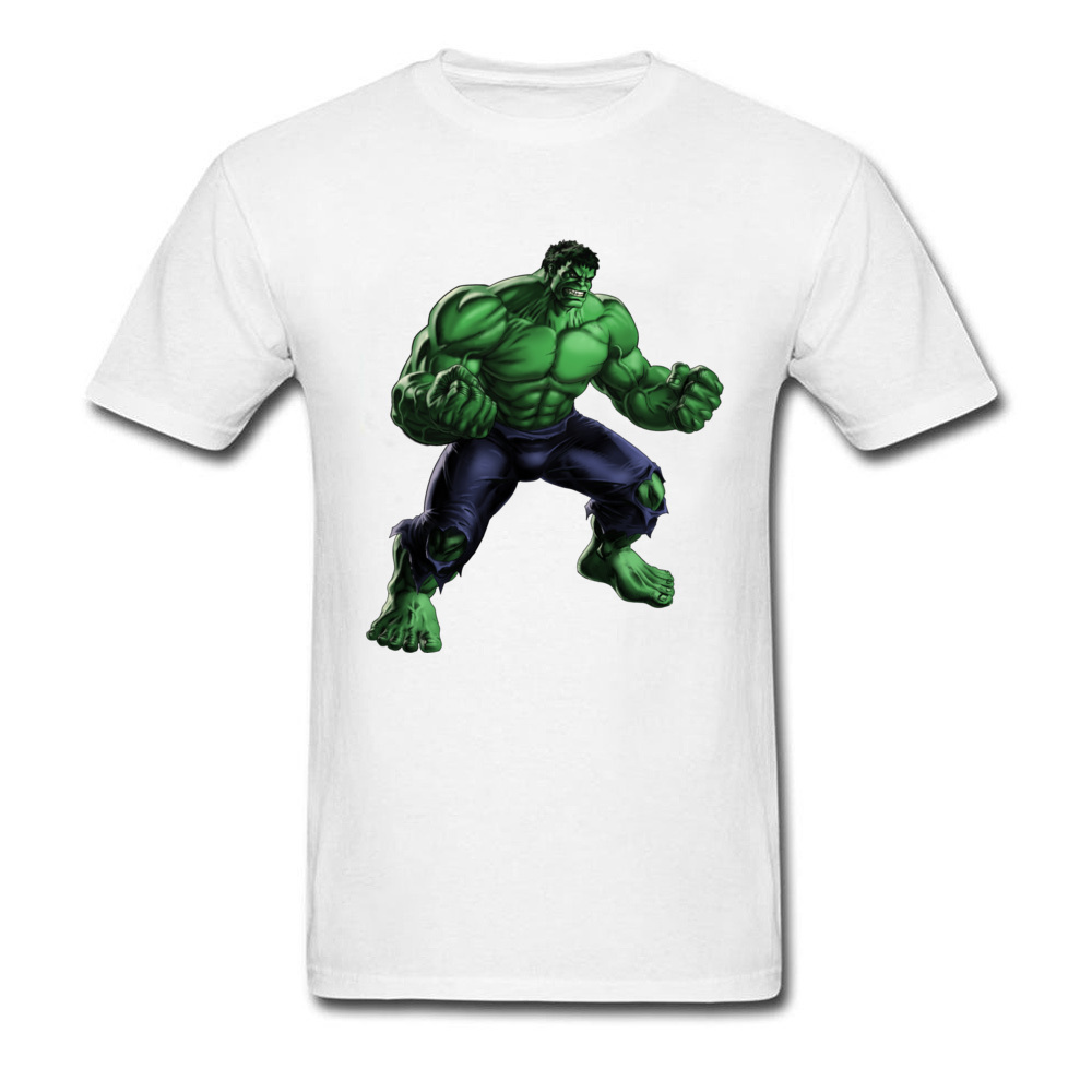 Hulk Avengers Alliance 2018 Supermen T Shirt Cotton White Tees 3D Graphic Printed Tops Men T-shirt Manly Streetwear