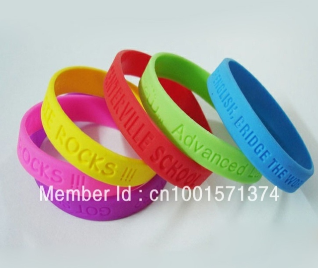 2772daafed543 US $125.0 |Custom Debossed Silicone Bracelet Silicone Wristband promotion  gift, custom design are welcome 100pcs/lot-in ID Bracelets from Jewelry &  ...