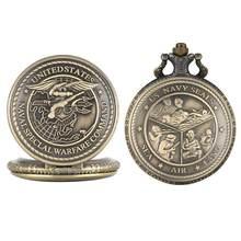 Klasik cep saati Erkekler Hemşire Izle ABD Donanma Özel Operasyonlar Komut ve Mühürler Ünitesi Desen cep saati es Saat cep saati