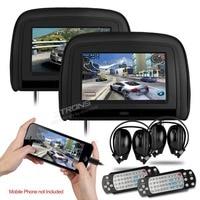 XTRONS Black 2x9 Digital Screen Car Monitor Headrest DVD Player with 2 IR Headphones 8 Bits & 32 Bits Games