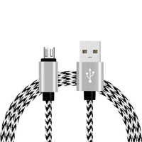 Szybkie ładowanie kabel Nylon pleciony drut przewód metalowy USB do synchronizacji kable danych ładowarka do Samsunga Galaxy dla Huawei dla Xiaomi ładowania
