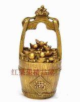 China Collection Brass A pot of gold Sculpture