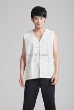 Free shipping Spring men taiji clothing set Tai chi suit set men chinese kung fu suit Sleeveless shirt + pants 0925-3