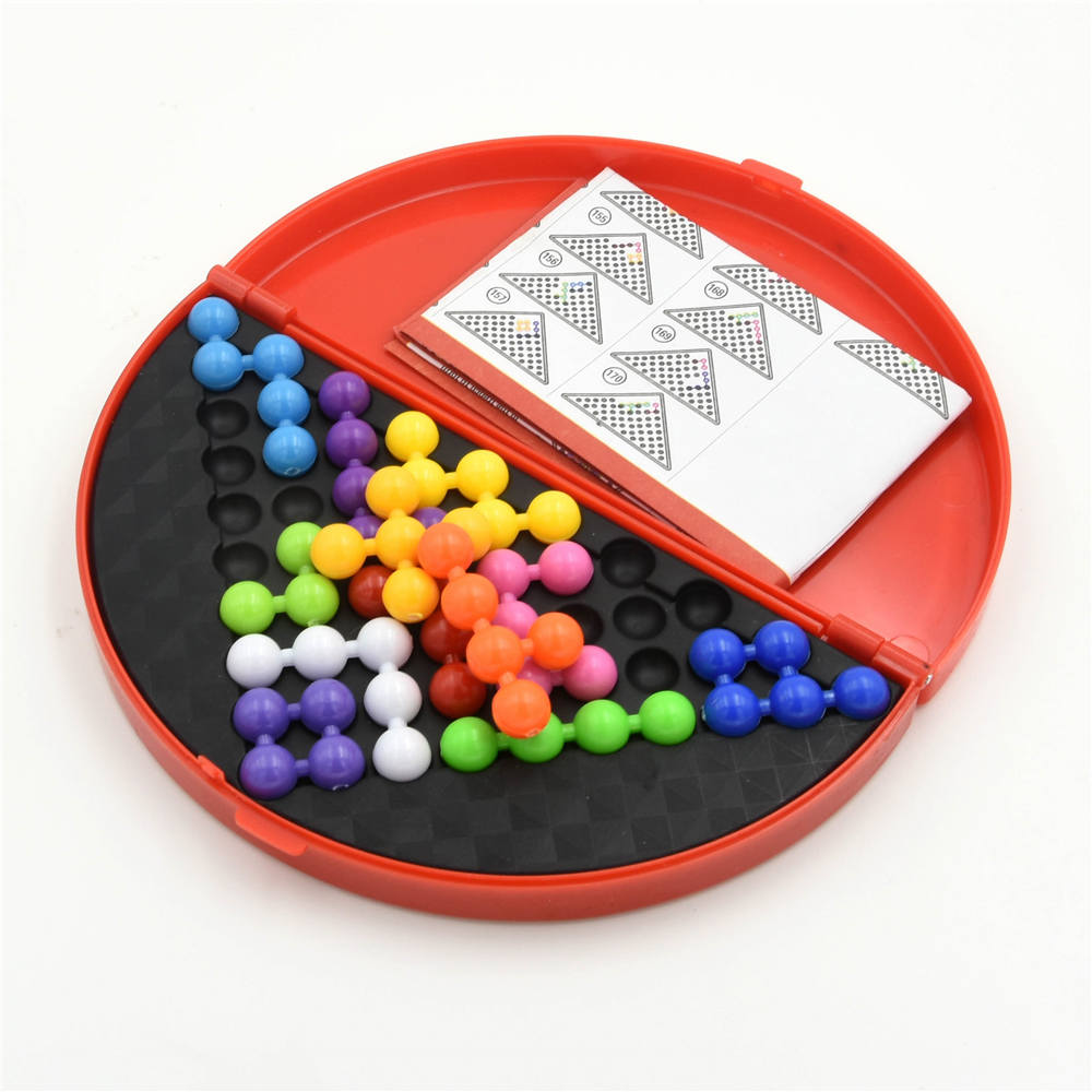 Puzzle Pyramid-Plate Game-Toys Brain-Teaser-Beads IQ Challenges Logical Educational Children
