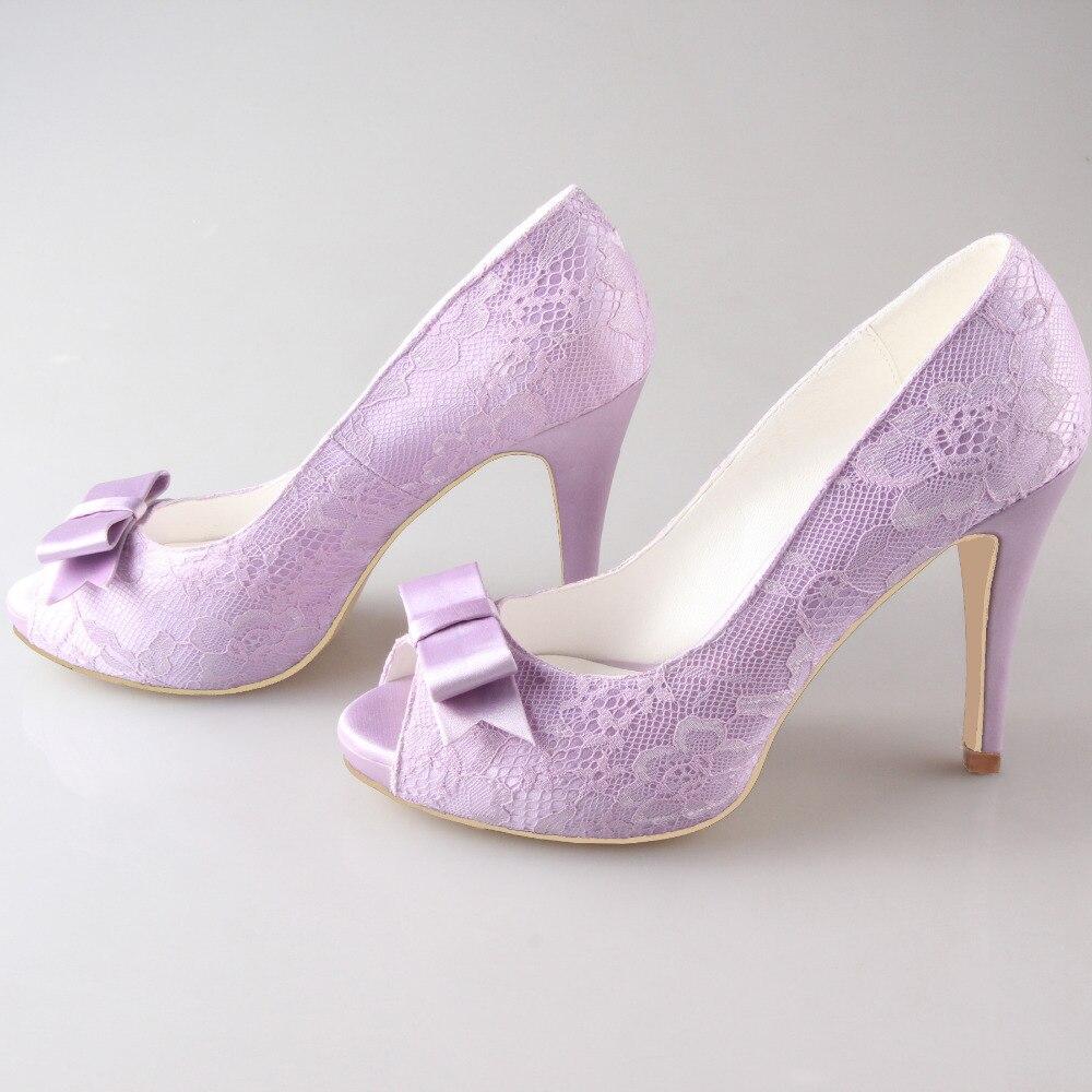 Creativesugar luce viola lavanda lilla del merletto dolce arco open toe scarpe  da donna da sposa damigella d onore di promenade di cerimonia nuziale pompe  ... 1669dce689f9