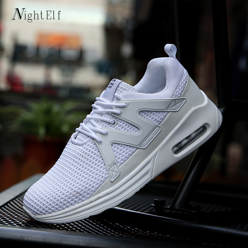 Night Elf men sneakers breathable air cushion sport shoes man high quality mesh white running shoes for men 39-46