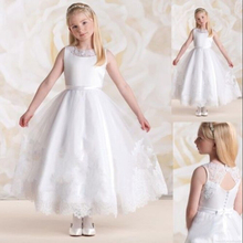2015 New Arrival Sweet Flower Girl Dresses Keyhole Princess Party Pageant Dress for Little Girls Kids/Children Dress for Wedding 2018 new arrival children princess dress for party wedding flower girls dress sequin ruffles lace kids dresses for girls