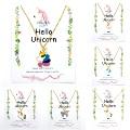 Ожерелье 25 стилей для девочек с подвеской в виде единорога и карты Wihoo Horse, женская подвеска, детское Золотое модное ювелирное изделие, подарок для детей, эмаль Pop - фото