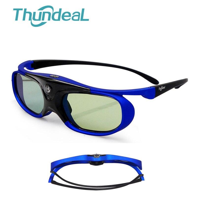 Óculos Óculos de Obturador Ativo DLP Projetor 3D Thundeal 3D Bateria Universal 96-144Hz Para Optoma BenQ Acer Viewsonic jmGO XGIMI