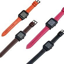 Купить с кэшбэком RDA Fashion Genuine Calf Leather watch band for Original Xiaomi Huami Amazfit Bip BIT PACE Lite Youth Smart Watch