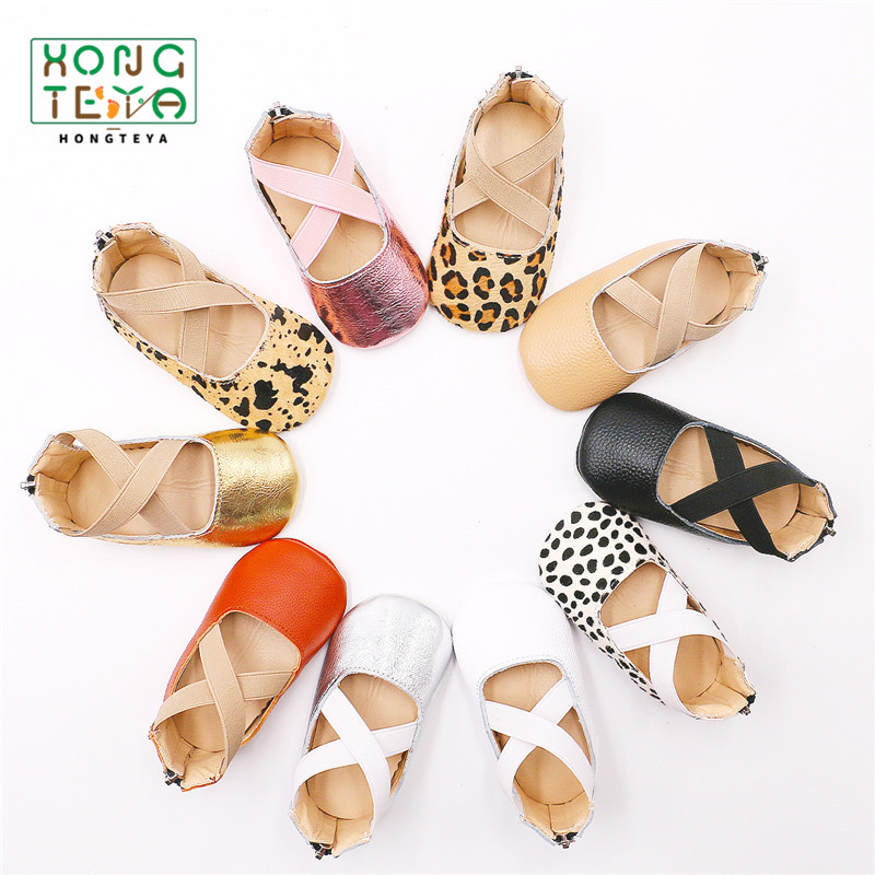 Soft Soled Anti-Slip Shoes Genuine Leather Baby Girls Princess Shoes Dress Baby Shoes For Party Girls Ballet Flats Shoes