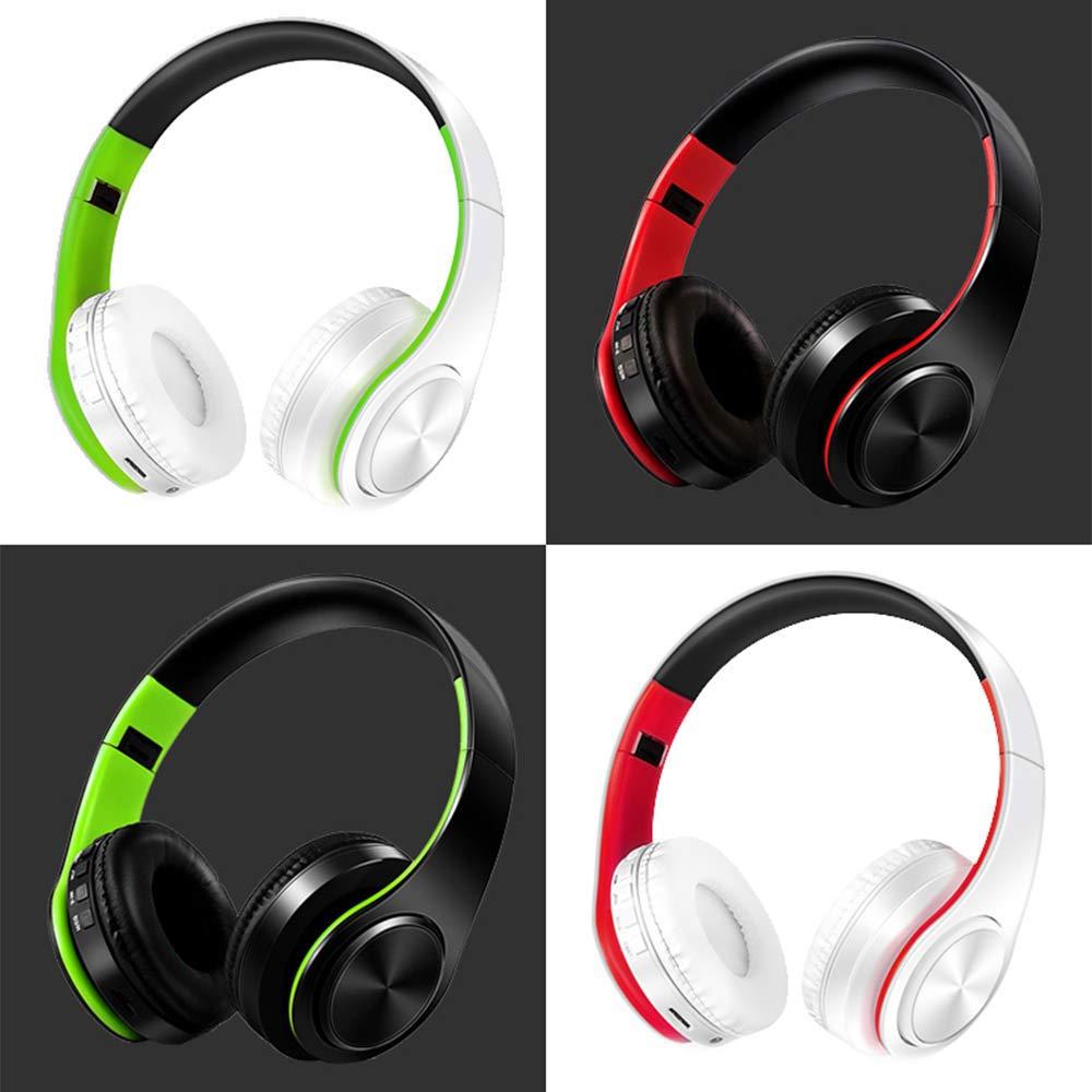 Pliable Sans Fil du Casque Coloré Stéréo Audio Mp3 Bluetooth Écouteur de Soutien SD TF Carte FM AUX Avec Micro Pour Téléphones