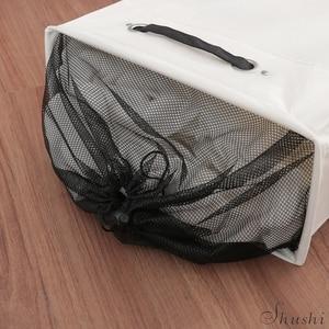 Image 4 - שושי אופנה מלוכלך בגדי סל תיק קל להעביר כבד לשאת רולר עגלת מלוכלך מתקפל עם גלגלים כביסה אחסון סל