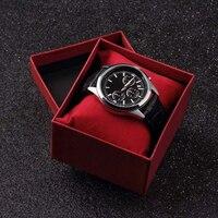 Caixa para relógio vermelha  caixa para presente  feita de cartão e quartzo de alta qualidade presente